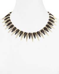Cara Accessories Black Spike Necklace 14 - Lyst
