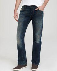 Diesel Jeans Fanker Bootcut Fit in Medium Blue - Lyst