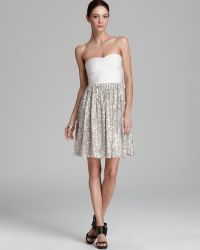 ERIN Erin Fetherston - Dress Strapless Sequin Bandage - Lyst