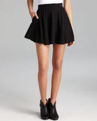 f261c3d4c Madewell Knit Grid Skirt in Black - Lyst
