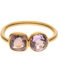 Marie-hélène De Taillac - 22k Gold Ring with Double Precious Stones - Lyst