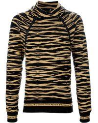 Bernhard Willhelm - Sagaris Tiger Knit Sweater - Lyst