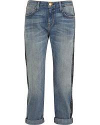 Current/Elliott The Boyfriend Cropped Straight-leg Jeans - Lyst