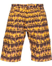 Jeremy Scott - Crocodile Print Shorts - Lyst