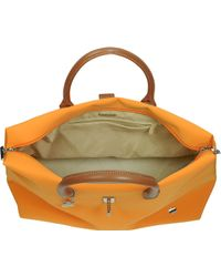 La Bagagerie - Shopping N Orange Fabric and Leather Tote - Lyst