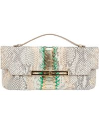 Stark - Python Skin Clutch Bag - Lyst