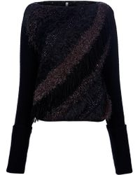 Aimo Richly - Fringe Knit Sweater - Lyst