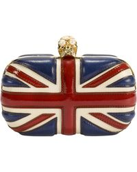Alexander McQueen Britannia Skull Box Clutch - Lyst