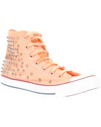 HTC Hollywood Trading Company - Studded Hitop Sneaker - Lyst