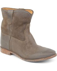 Isabel Marant Crisi Suede Ankle Boots - Lyst