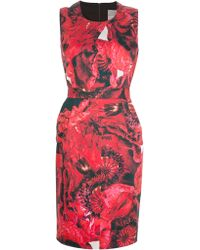 Preen By Thornton Bregazzi Blaise Fitted Dress - Lyst