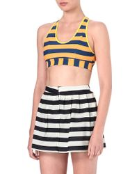 Originals x Opening Ceremony Striped Sports Bra - Lyst