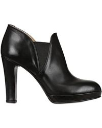 Alberto Fermani 100mm Nappa Leather Low Ankle Boots - Lyst