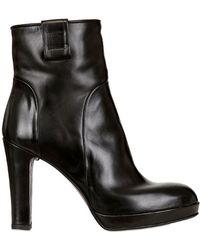 Alberto Fermani 100mm Zipped Nappa Leather Boots - Lyst
