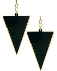 Asos Perspex Swing Triangle Earrings - Lyst