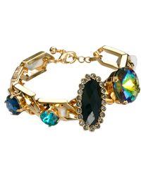 Asos Rainbow Jewel Link Bracelet - Lyst