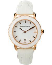 BCBGMAXAZRIA - Bcbg Ladies Slim Leather Strap Watch with Rose Gold Case - Lyst