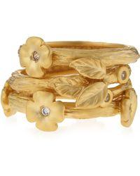 Belargo - Floralstation Triplestack Ring - Lyst