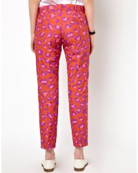 Boutique by Jaeger - Bright Leopard 78 Trousers - Lyst