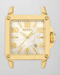 Brera Orologi - Stella Brushed 18k Yellow Gold Ip Watch Head - Lyst