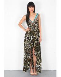 Camilla Minotaure V Neck High Low Drawstring Dress - Lyst