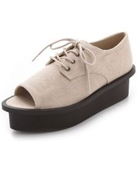Cheap Monday | Peep Toe Oxford Flatforms | Lyst