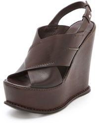 CoSTUME NATIONAL - Ramona Wedge Sandals - Lyst