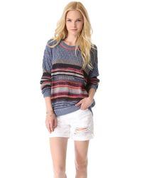 Dagmar - Phyllis Striped Cottonblend Sweater - Lyst