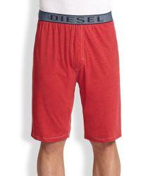 Diesel Martin Lounge Shorts red - Lyst