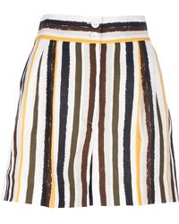 Dolce & Gabbana Striped Shorts - Lyst