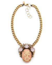 Erickson Beamon - Pretty in Punk Cameo Statement Necklace - Lyst