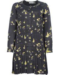Etoile Isabel Marant Pleated Shift Dress gray - Lyst