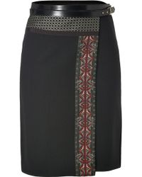 Etro Wool Alpaca Blend Patchwork Skirt - Lyst