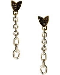 Giles & Brother - Nara Chain Earrings with Pave - Lyst