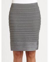 Halston Heritage Grosgrainstripe Pencil Skirt - Lyst