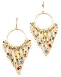 Iosselliani Crystal Encrusted Fringe Earrings - Lyst