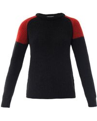 IRO Piper Contrast Shoulder Sweater - Lyst