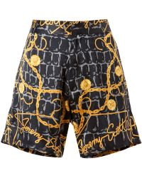 Jeremy Scott - Scarf Printed Silk Shorts - Lyst