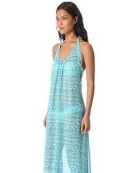 Josa Tulum - Low Back Halter Cover Up Dress - Lyst