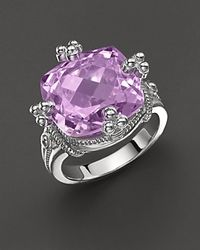 Judith Ripka Olivia Ring with Amethyst Stone - Lyst