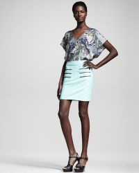 Kelly Wearstler Figurine Fauxleather Skirt - Lyst