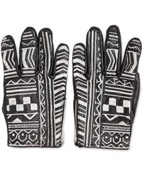 KTZ - Tattoo Embroidery Leather Gloves - Lyst