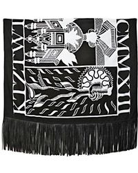 KTZ | Tattoo Printed Jersey Leather Scarf | Lyst