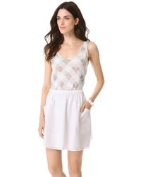 Marc By Marc Jacobs Gauze Check Knit Top - Lyst