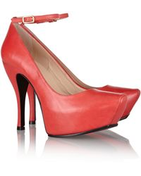 McQ by Alexander McQueen Burlesque Leather Platform Pumps - Lyst