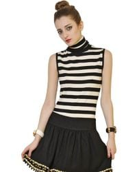 Moschino Striped Wool Merino Knit Sweater - Lyst