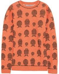Mulberry Printed Cotton Sweater - Lyst