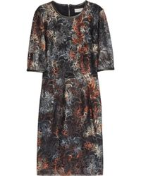 Mulberry - Leather Trimmed Tie Dye Lace Dress - Lyst