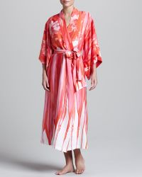 Natori Thien Crepedechine Gown - Lyst