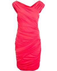 Nicole Miller Ruched Fitted Dress - Lyst